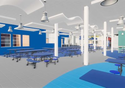 Caldwell County - Granite Falls - Middle School ~ Interior Rending Media Center 5