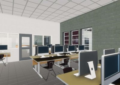 Caldwell County - Granite Falls - Middle School ~ Interior Rending STEM Space 3