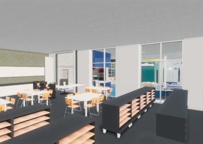Caldwell County - Granite Falls - Middle School ~ Interior Rending STEM Space 4