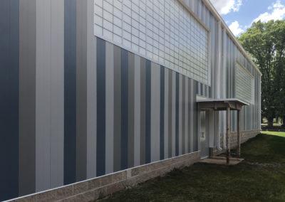 Newton Conover - Exceptional ~ exterior Gymnasium Striped tile wall (VM)