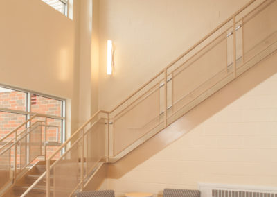 Westmont Hilltop - Elementary ~ Interior, Lobby Stair 2 (MH)